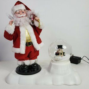 Santa Claus and Snowman Christmas Decoration